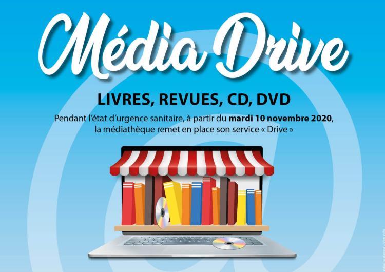 Un nouveau service Drive à la médiathèque !