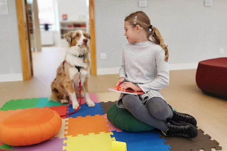 Lire avec le chien